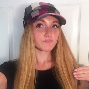 Trendy Plaid Conductor Hat